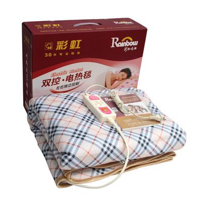 电热毯双人双控三人1.5/1.8米彩虹电褥子tb106调温tb104防水除螨