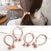 韩国简约发绳清新扎头发橡皮筋成人发圈头绳头饰成人头花发饰品女