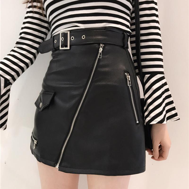 pu皮裙包臀裙半身裙短裙秋冬
