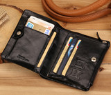 Jeepudial authentic men's leather wallet men's short section first layer leather wallet Korean casual wallet men's bag
