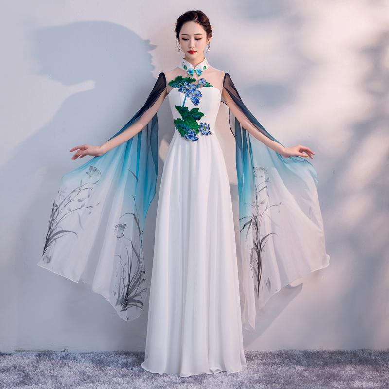 旗袍裙 古筝表演
