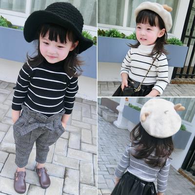 女童装冬装高领韩版加厚儿童套头毛衣女宝宝针织衫线衫1-2-345岁