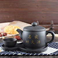 Large capacity purple sand teapot restaurant hotel teahouse kungfu soup pot ceramic health stew pot