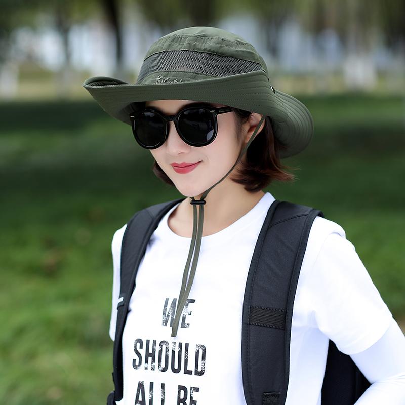 帽子女夏天渔夫帽户外骑车防晒遮阳帽女士夏季遮脸太阳帽防紫外线