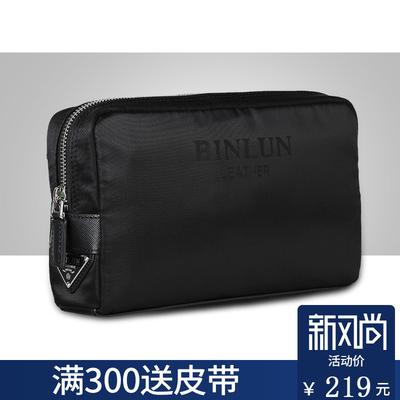 【减20】男士尼龙帆布手拿包大容量多功能手抓包男包休闲韩手腕包