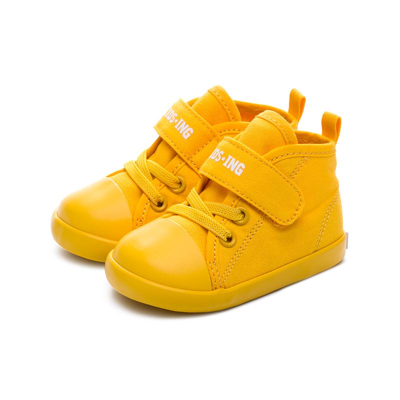 kidsing宝宝学步鞋春婴儿男女童帆布鞋透气软底防滑机能鞋防掉跟