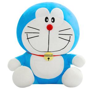 正版 哆啦a梦公仔机器猫儿童玩具毛绒小叮当猫布娃娃生日礼物女孩