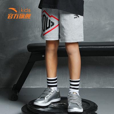 安踏童装 男童短裤2018新款五分裤儿童裤子中大童运动裤
