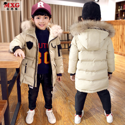 米西果童装男童棉服冬装2017新款儿童棉衣棉袄加厚中长款大童韩版