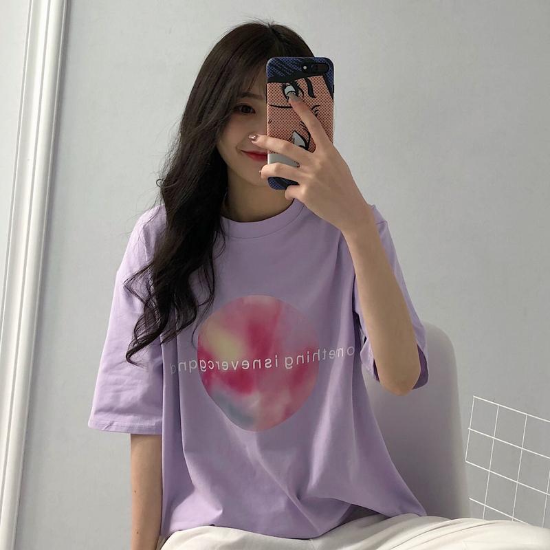 春夏女装韩版情侣闺蜜字母宽松短袖T恤学生中袖打底衫上衣体恤潮