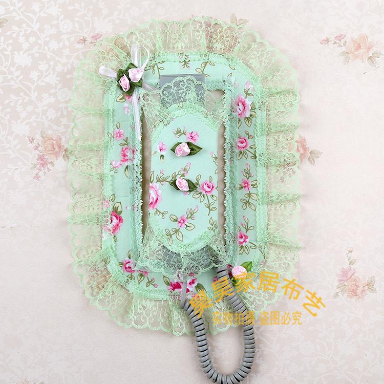 新品特价包邮精品布艺楼宇门铃对讲室内机套电话挂机门铃防护罩装
