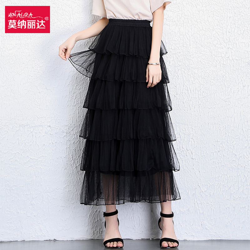 韩版多层纱裙