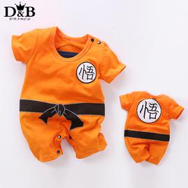 宝宝七龙珠哈衣悟空服装儿童纯棉造型连体短袖1一3岁婴儿薄爬爬服图片