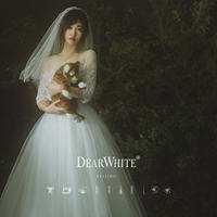 Dear white <semi-summer wind> Sen holiday girl ballet travel shoot lawn white gauze dress light wedding dress