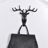客厅鹿角美式墙面无痕装饰挂钩 创意个性鹿头墙壁挂勾钥匙壁挂钩