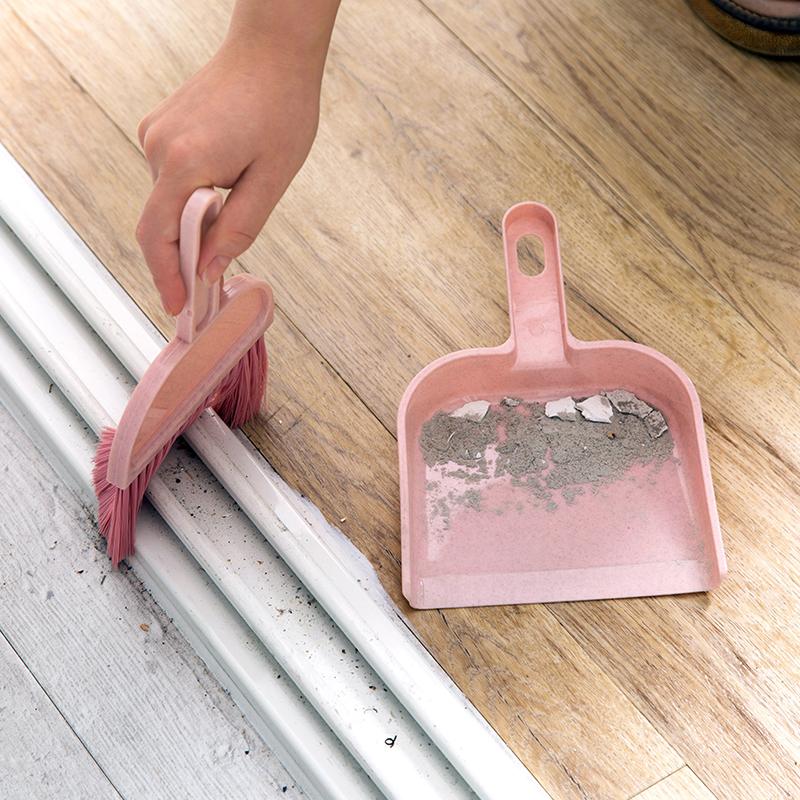 桌面迷你簸箕扫把套装小号塑料撮箕畚斗家用小扫帚撮子垃圾铲簸萁