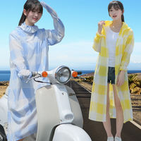 Summer electric car sun protection clothing female body full body UV shawl riding electric motorcycle long visor