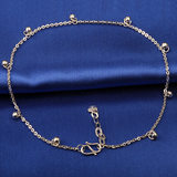 Yabaofu pt950 platinum gold anklet white gold anklet female car flower transfer beads anklet simple personality starlight