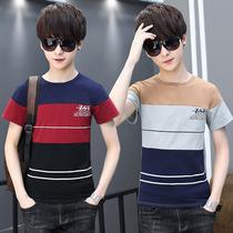 夏季短袖T恤薄款12青少年13夏装14-15岁男孩大童初中学生纯棉上衣
