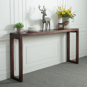北欧实木玄关桌玄关台简约现代沙发背几条几隔断吧台中式条案供桌