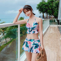 Swimsuit women's three-piece 2018 new super fairy bikini split sexy belly slim conservative hot spring bathing suit