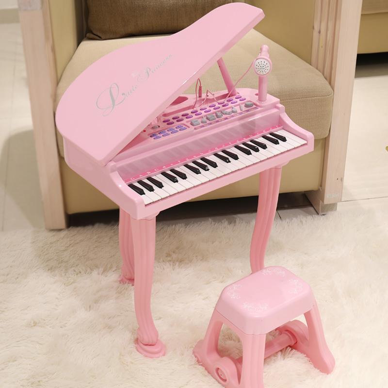 宝丽/Baoli 儿童玩具电子琴女孩宝宝小钢琴初学者三角琴1-2周岁