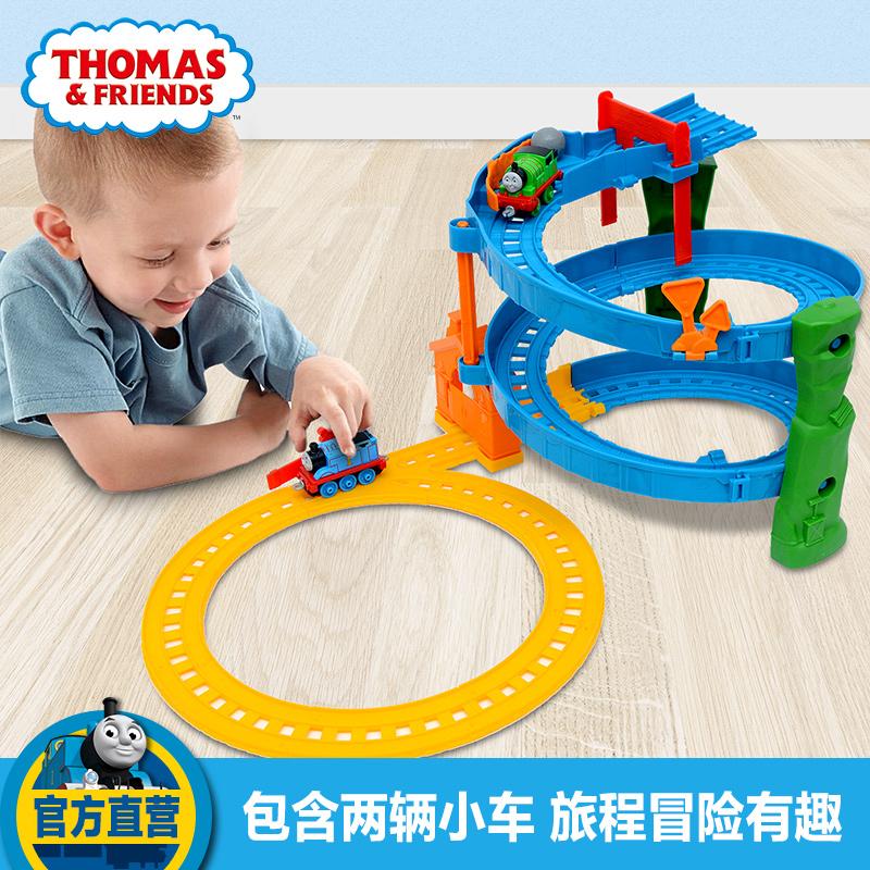 新年礼物 托马斯小火车合金系列之旋转赛道轨道套装BHR97