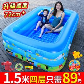 儿童充气游泳池加厚家用成人超大号水上乐园婴儿小孩家庭充气水池图片