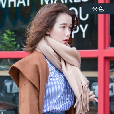 蚕夫子100%羊毛围巾女秋冬季韩版百搭英伦春秋季长款冬天羊绒披肩