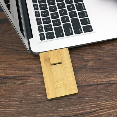 卡片u盘16G木质竹子U盘16g个性竹质优盘定制logo名片礼品公司定做销量排行