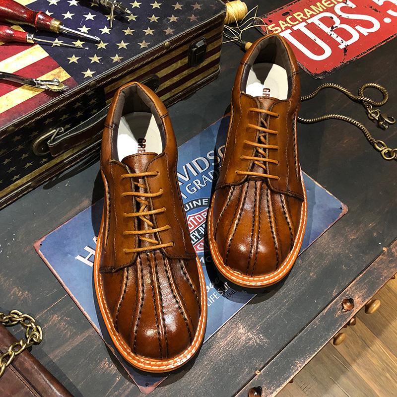 Мужские кожаные ботинки Артикул 557314371440