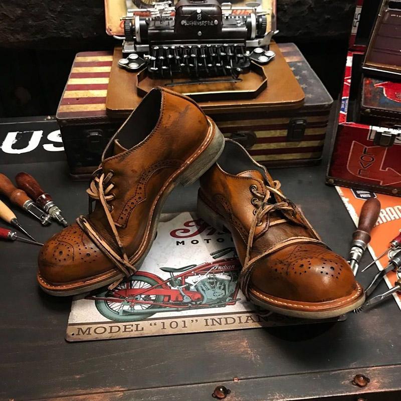 Мужские кожаные ботинки Артикул 559084293994