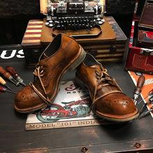 雕花布洛克英伦风复古真皮低帮休闲做旧韩版手工装皮鞋男女夏季潮