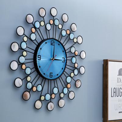 真贝壳现代简约钟表挂钟时钟客厅创意时尚个性家用艺术挂表石英钟