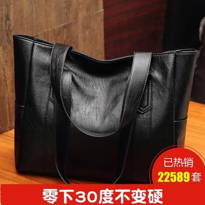 包包女2018新款超大容量女单肩包简约时尚休闲百搭软皮手提包大包