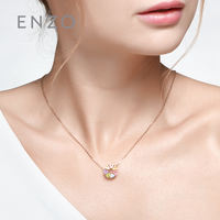 Enzo natural colored gemstone pendant 9K gold garnet topaz amethyst citrine round hollow pendant