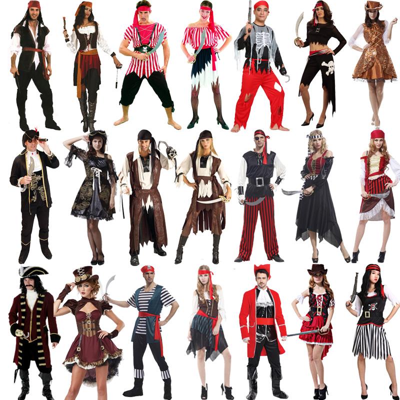 成人男女衣服万圣节服装加勒比海盗杰克