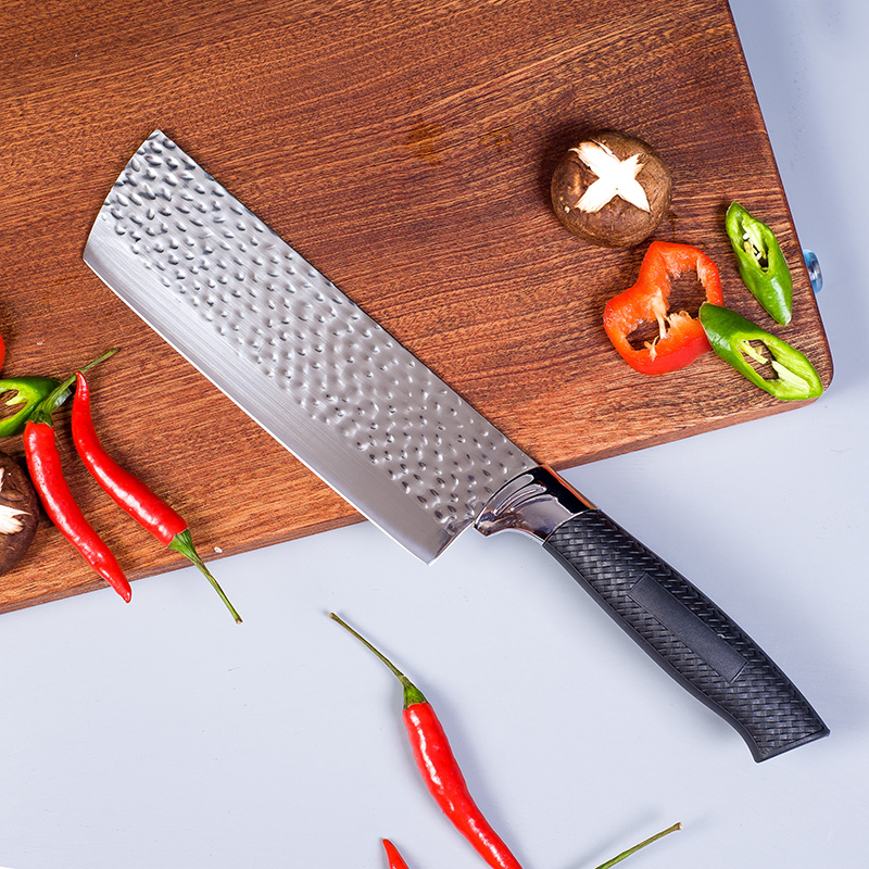 利瓷锻打菜刀不锈钢家用切片刀小菜刀锋利切菜刀切肉刀钢刀厨刀