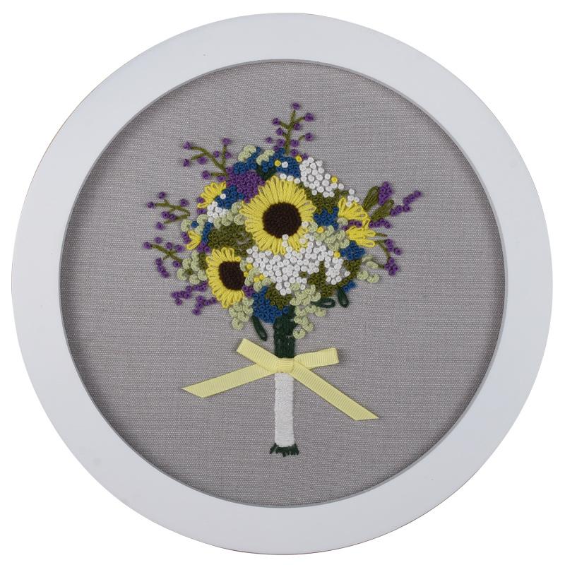 刺绣diy材料包玫瑰花创意手工制作欧式古风立体绣套件初学苏绣