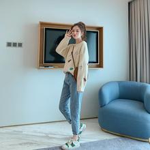 宽松套头懒惰风很仙 韩版 毛衣秋季女百搭上衣针织衫 新品 减20图片
