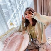 洋气外套 毛衣女秋宽松韩版 很仙 学生慵懒风针织开衫 新品 减20图片