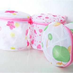 艾仕可 尼龙 印花折叠式文胸护洗袋 内衣洗衣袋(带支架)