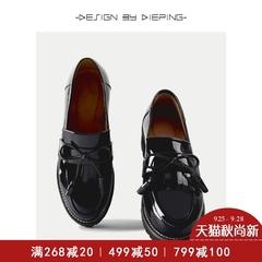 流苏黑色单鞋