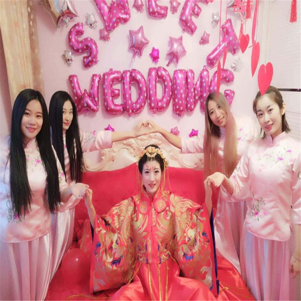 Chinese wedding dress bridesmaid dress mate dress sister group country costume hi wedding dress