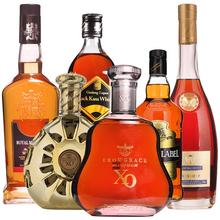 6瓶洋酒组合法国原酒进口白兰地xo威士忌整箱套餐礼盒装正品包邮