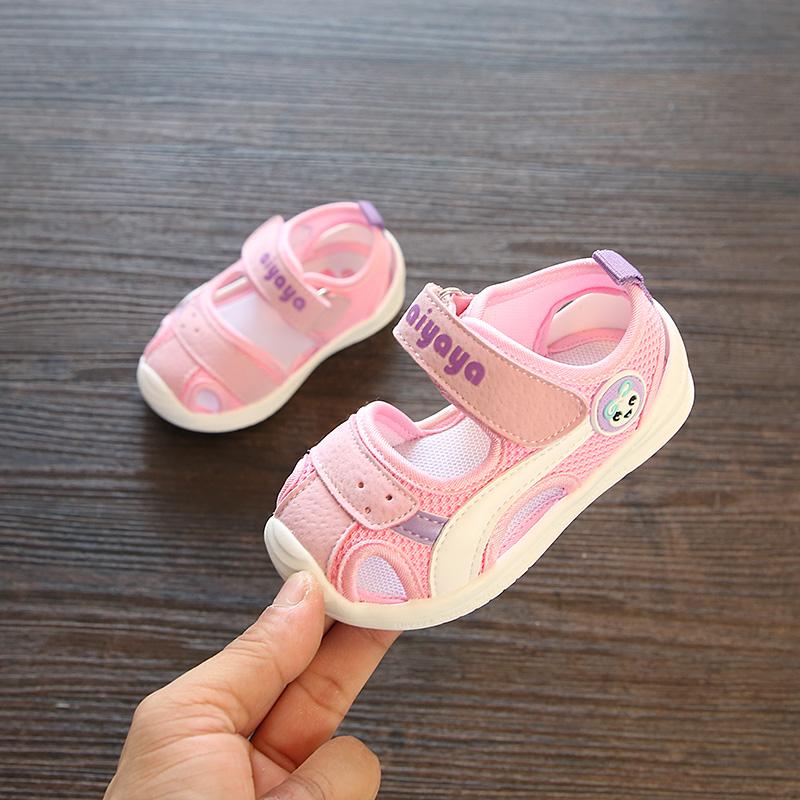夏季儿童鞋男宝宝凉鞋0-1-3岁2软底婴儿凉鞋休闲学步鞋防滑魔术贴