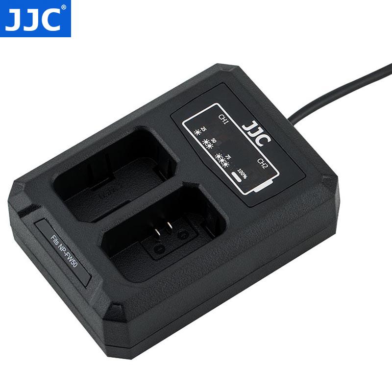JJC 索尼NP-FW50电池充电器A6400 A6300 A7 A7RII A7M2 A7RM2座充