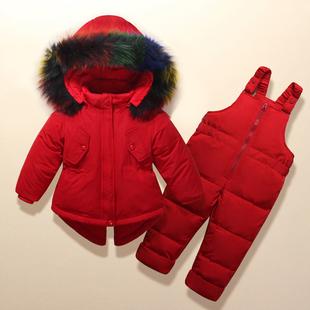 新品儿童羽绒服套装正品女童套装男童装宝宝女婴儿幼儿款反季特价