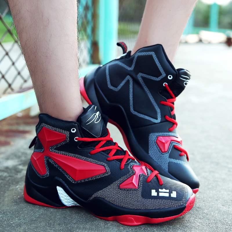 恩施耐克春季新款詹姆斯13代篮球鞋男高帮中小学生运动鞋小码青少