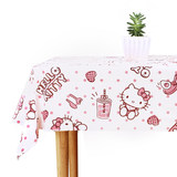 HelloKitty printed tablecloth creative cute tablecloth wedding thickening round table picnic cloth rectangular children's mat